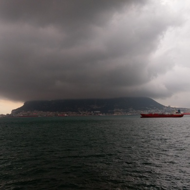 Clouds over Gibraltar